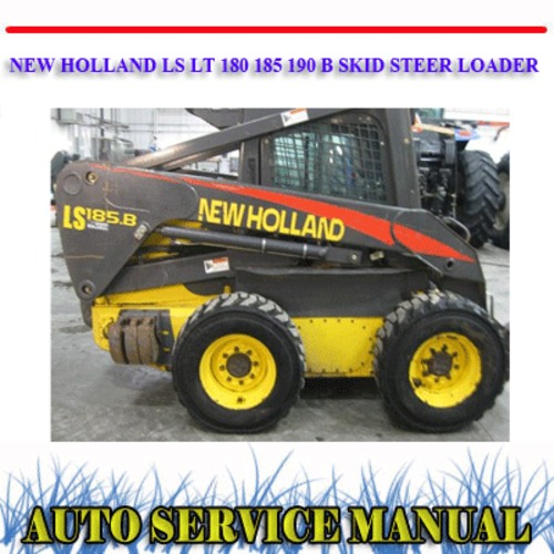 Product picture LS LT 180 185 190 B SKID STEER LOADER WORKSHOP MANUAL